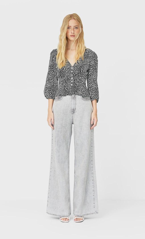 Блуза Со Сборкой Женская Коллекция Черный S