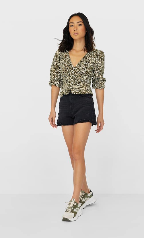 Блуза Со Сборкой Женская Коллекция Multicolor M