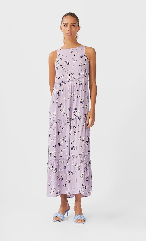 Длинное Платье С Принтом Женская Коллекция Multicolor L