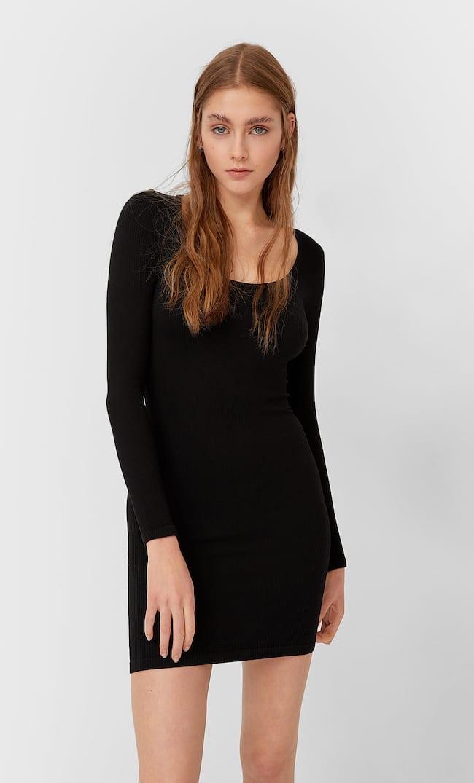 Платье Без Швов Женская Коллекция Черный L