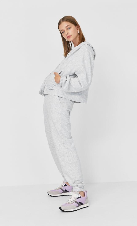 Худи С Застежкой На Молнию Женская Коллекция Пестро-Серый M