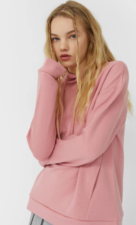 Базовое Худи Женская Коллекция Ярко-Розовый S