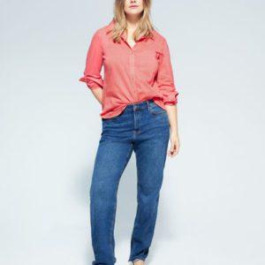 Хлопковая рубашка с пуговицами - Plana6