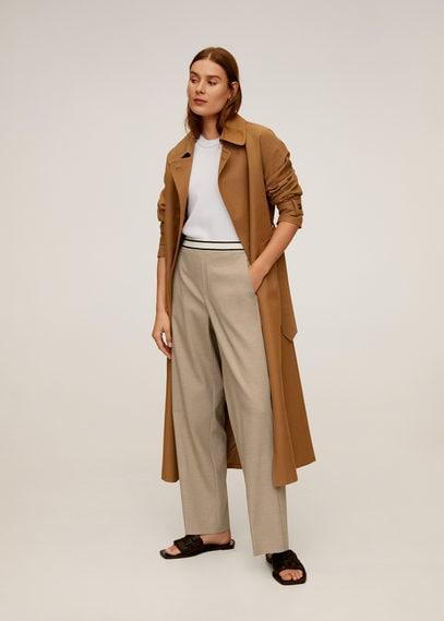 Прямые брюки с эластичным поясом - Rubber