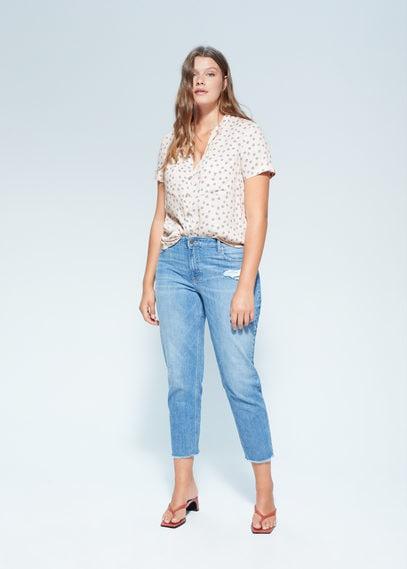 Принтованная блузка с карманами - Ruthpri6