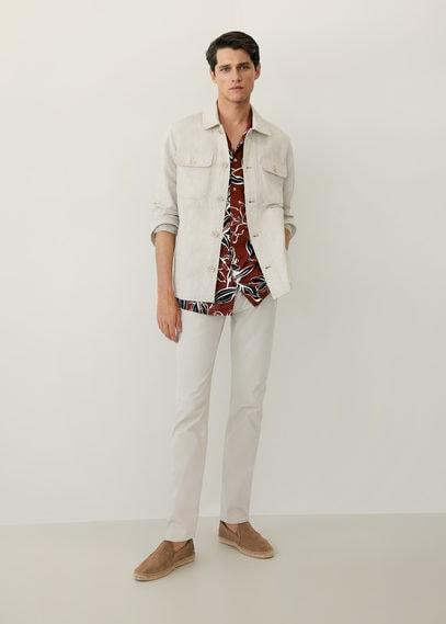 Верхняя рубашка лен и хлопок - Ueno