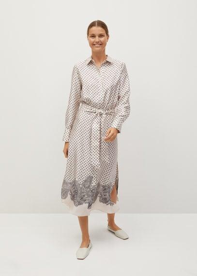 Принтованное платье-рубашка - Keil