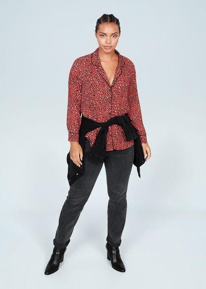 Рубашка с леопардовым принтом - Printy6