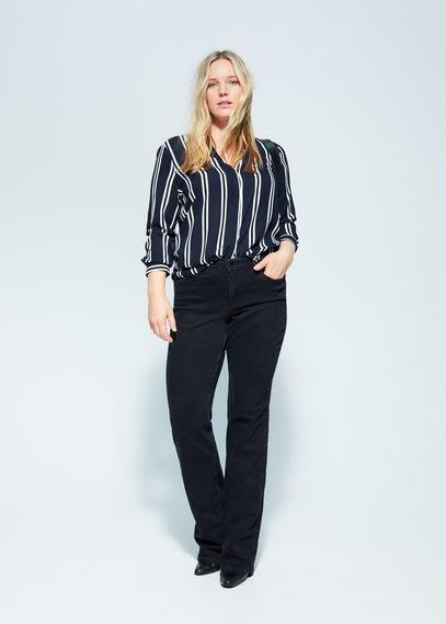 Блузка с принтом в полоску - Stripy6