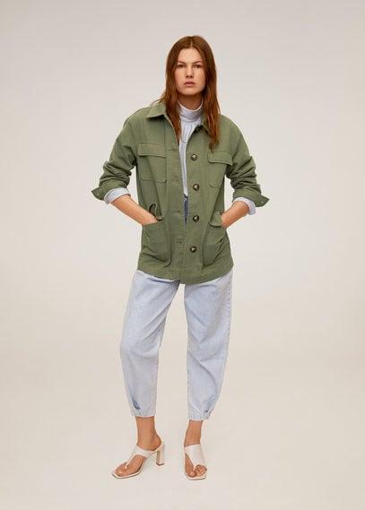 Хлопковая куртка со множеством карманов - Margot