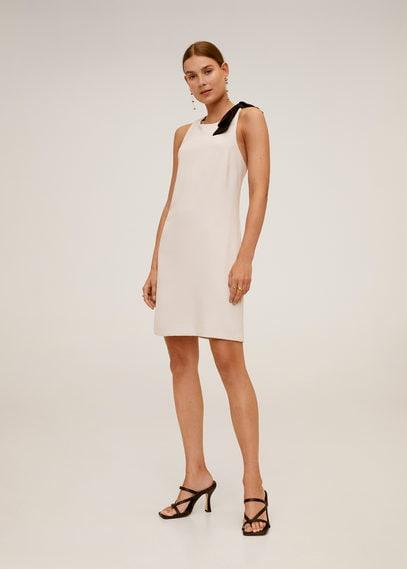 Платье с контрастными деталями - Laz