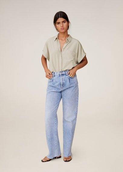 Рубашка из модала с карманом - Eliza