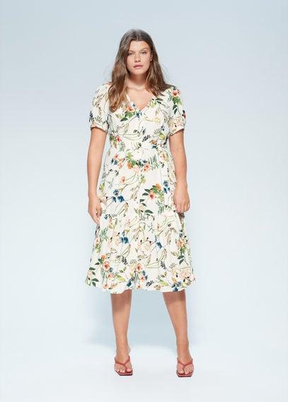 Миди-платье с цветочным принтом - Botanic6