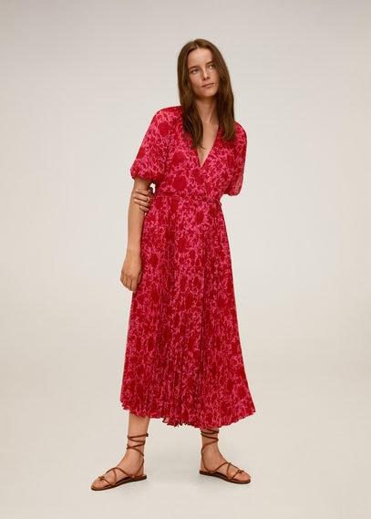 Плиссированное платье с цветочным принтом - Otto