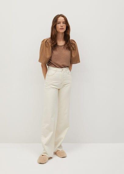 Блузка с рукавами-фонариками - Paula