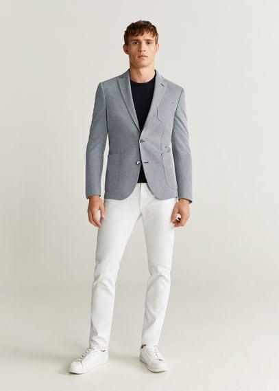 Структурный пиджак slim fit из хлопка - Sanday