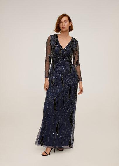 Длинное платье с пайетками - Marta-a