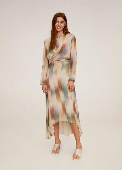 Принтованное платье с запахом - Tibi-a