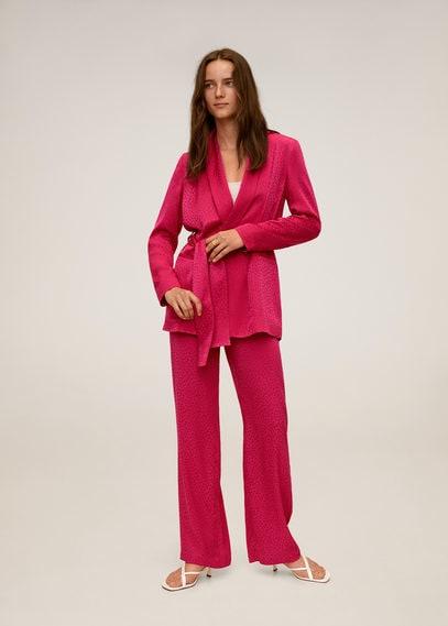 Костюмный пиджак с поясом - Pinky
