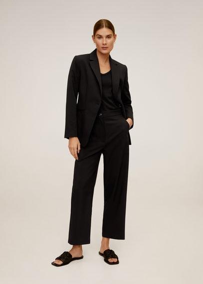 Укороченные костюмные брюки - Office6