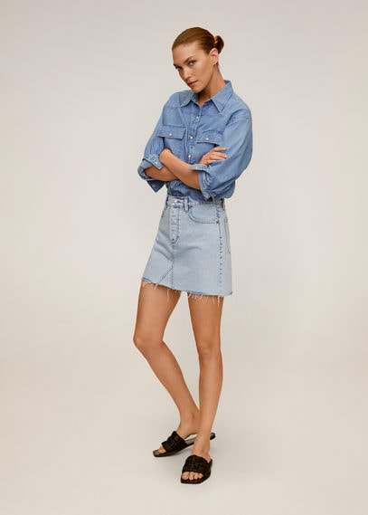 Джинсовая мини-юбка - Monica
