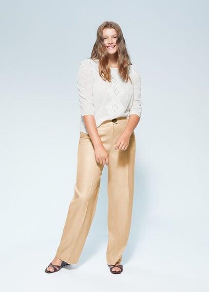 Прямые брюки с защипами - Pollito6
