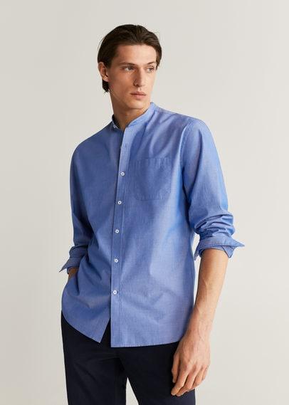 Рубашка regular fit с воротником мао - Jackson