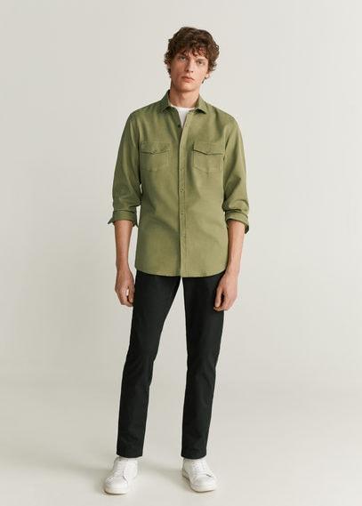 Рубашка regular fit с карманами - Rulo