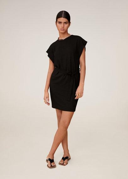 Короткое платье с поясом - Farah