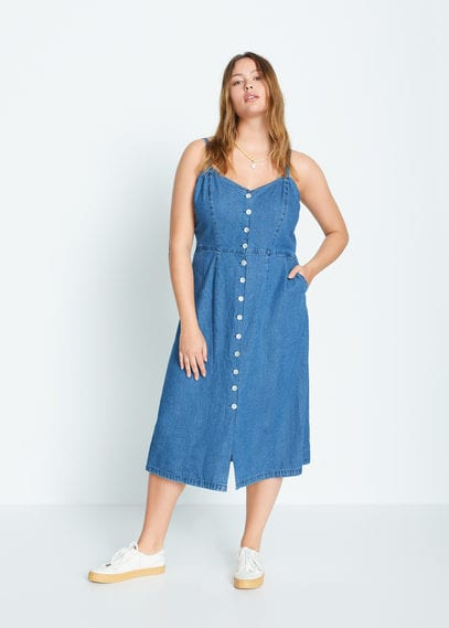 Джинсовое платье с пуговицами - Jeanne