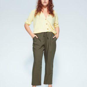 Прямые брюки из струящейся ткани - Fluid6