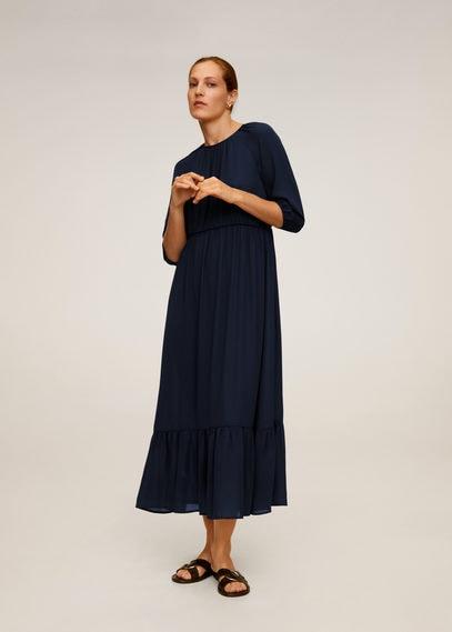 Длинное струящееся платье - Dice-a