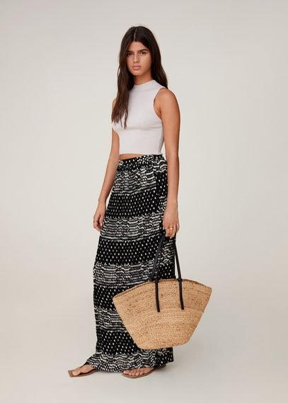 Длинная юбка с принтом - Datil-a