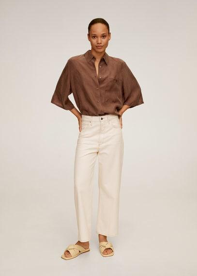 Рубашка из купро с карманом - Sisko