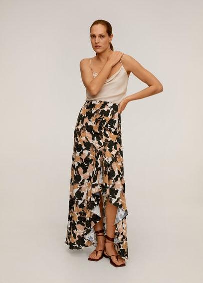 Длинная юбка с принтом и разрезом - Mancha-a