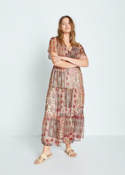 Длинное платье с принтом - Folk-i