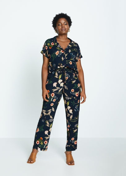 Рубашка с тропическим принтом - Botanic6