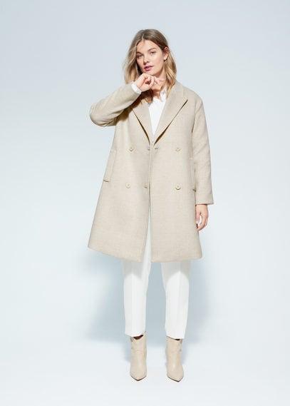Клетчатое пальто с шерстью - Dion