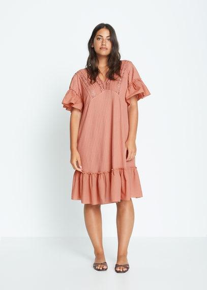 Ажурное платье с воланами - Rose