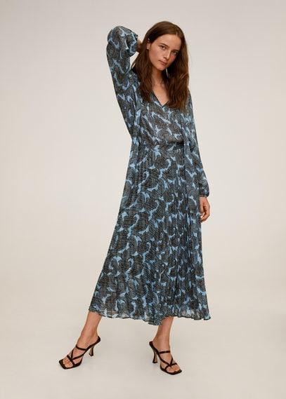 Плиссированная блузка с принтом - Deno