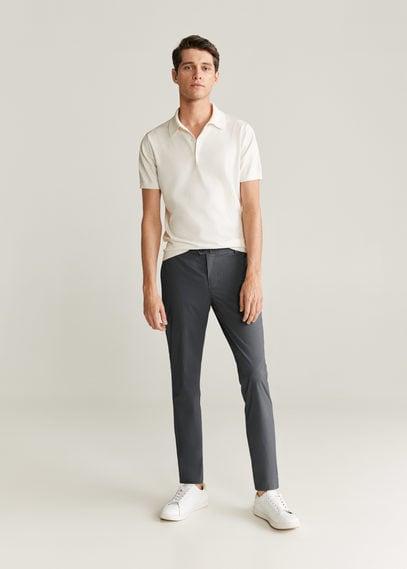 Укороченные брюки slim fit с эластичным поясом - Bologna