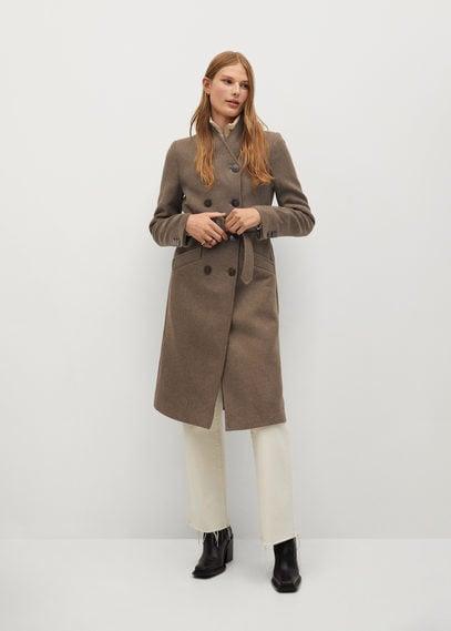 Двубортное пальто из шерсти Manteco - Luna
