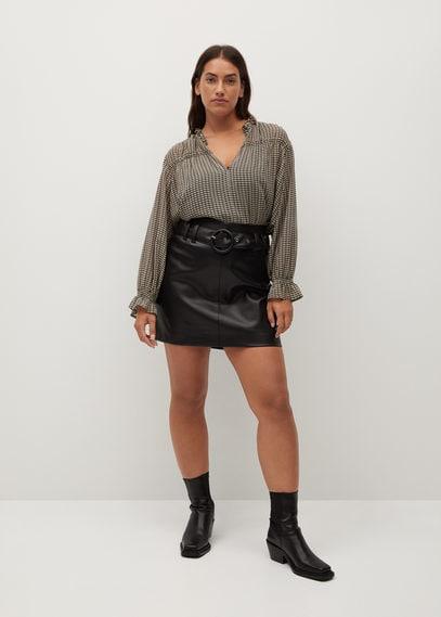 Струящаяся блузка с принтом - Delhy