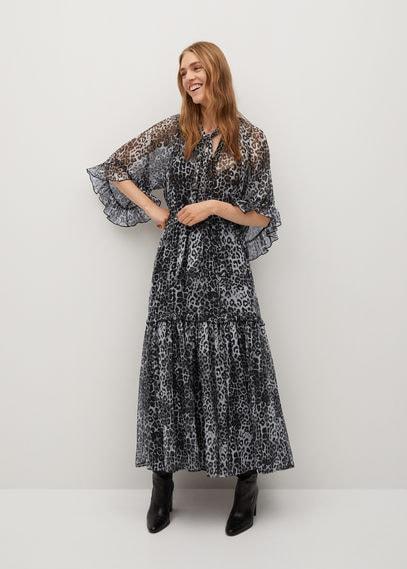 Принтованное платье с крылышками - Leone