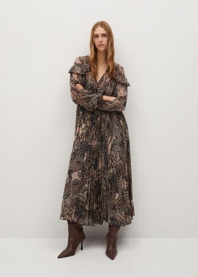Платье пейсли с плиссировкой - Magic