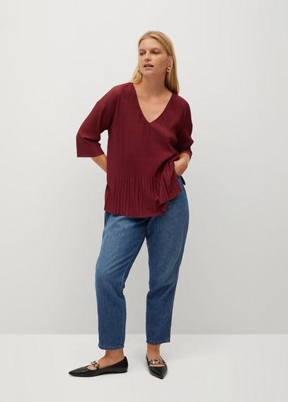 Плиссированная футболка с воланами - Mery