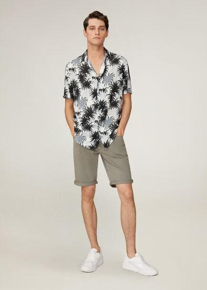 Струящаяся рубашка с гавайским принтом - Soja
