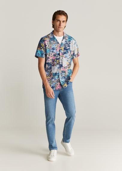 Струящаяся рубашка с гавайским принтом - Tosa