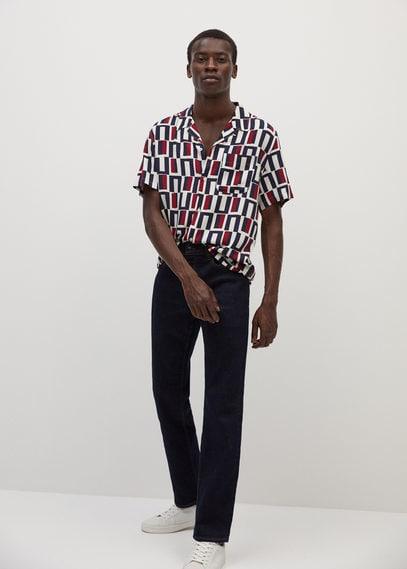 Струящаяся рубашка regular fit - Taj