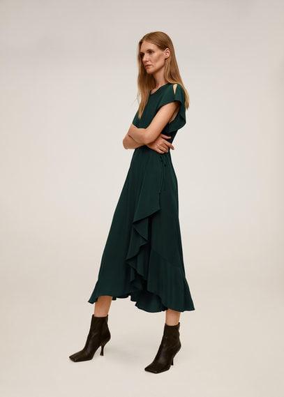 Миди-платье с воланами - Verdena